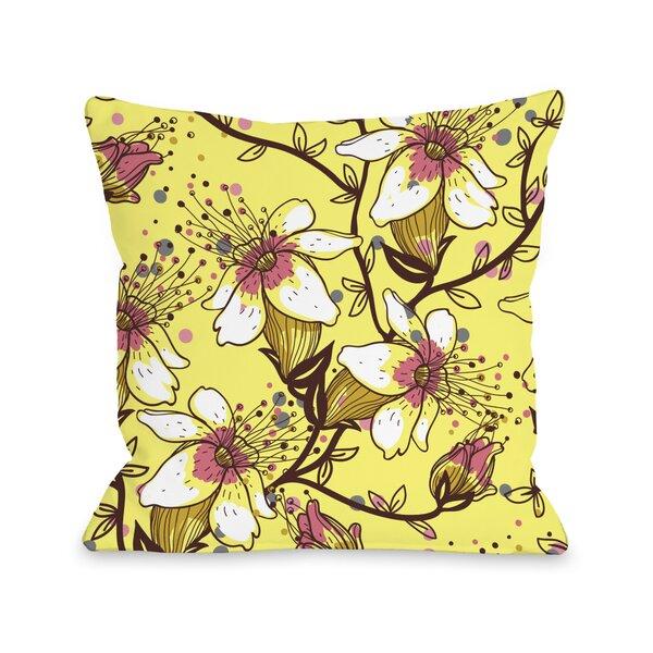 Lovelilies Throw Pillow by One Bella Casa