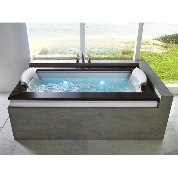 Fuzion Chroma Right-Hand 72 x 42 Drop-In Whirlpool Bathtub by Jacuzzi®