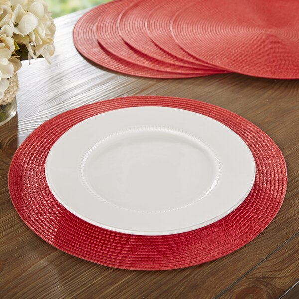 Wayfair Basics Round Woven 14.75 Table Placemat (S