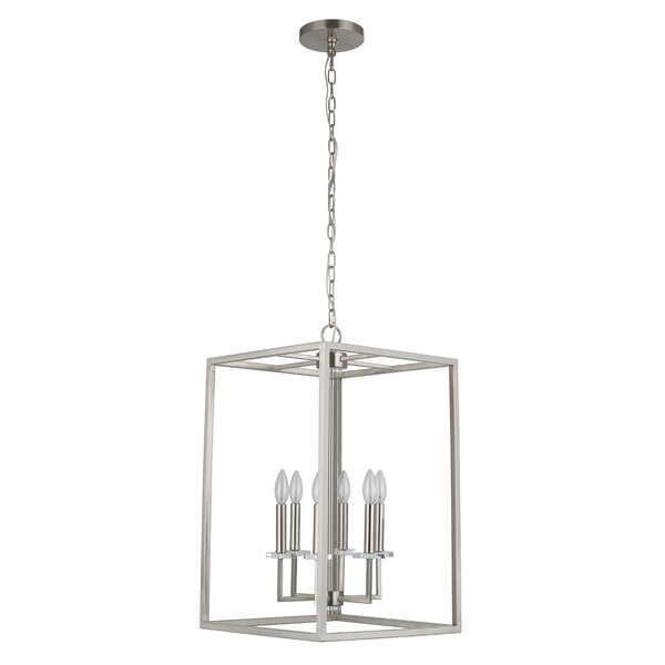Sisson 6 - Light Lantern Square Chandelier by Brayden Studio Brayden Studio