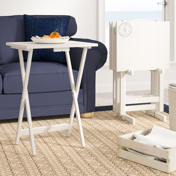 Ally 5 Piece TV Tray Table Set with Compass by Breakwater Bay| @ $112.99