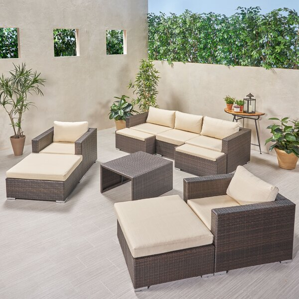 Guccione Outdoor 10 Piece Sofa Seating Group with Cushions by Orren Ellis