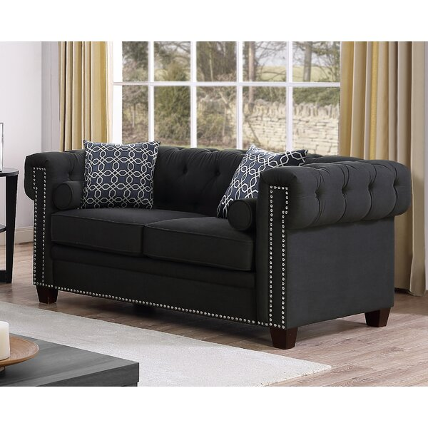 Quan Chesterfield Loveseat by Canora Grey