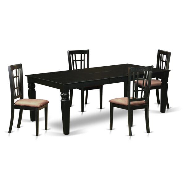 Beesley 5 Piece Rectangular HardWood Dining Set by Darby Home Co