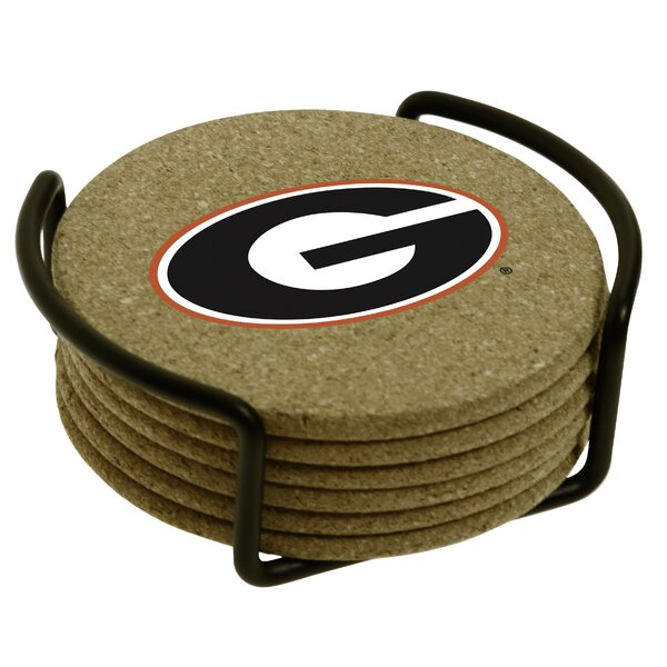 7 Piece University of Georgia Cork Collegiate Coaster Gift Set by Thirstystone