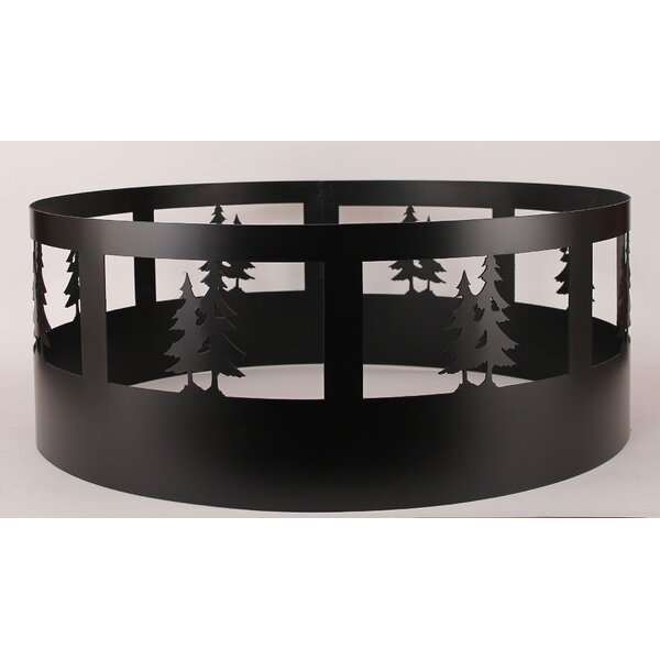 Pine Tree Steel Charcoal Fire ring by Coast Lamp Mfg.