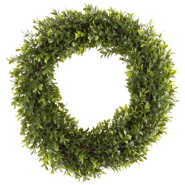 Round Artificial 15 Hedyotis Wreath by Pure Garden