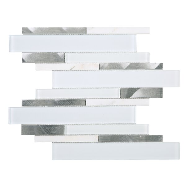 Rec Random Sized Mixed Material Tile in White by Multile