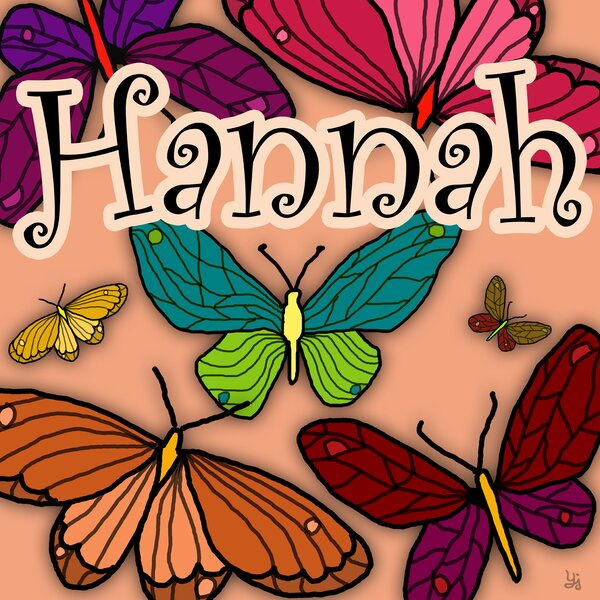 Colorful Butterflies Personalized Canvas Art by Green Leaf Art