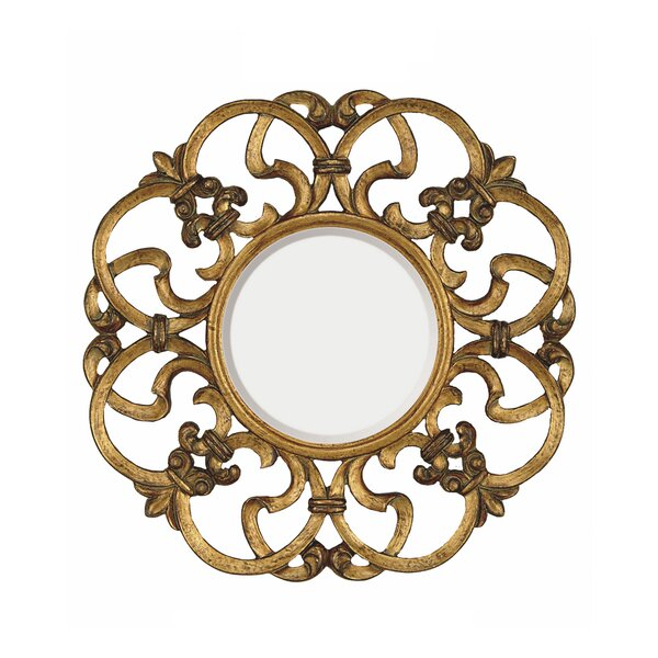 Traditional Round Bevel Wall Mirror by Astoria Grand