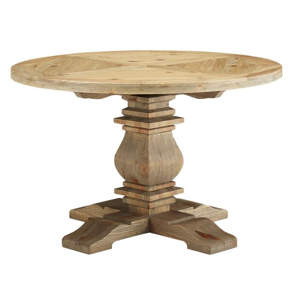 Industrial Solid Wood Dining Table by Millwood Pines