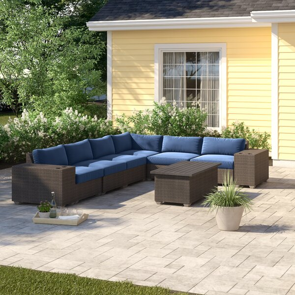 Tegan 9 Piece Sectional Seating Group with Cushions by Sol 72 Outdoor