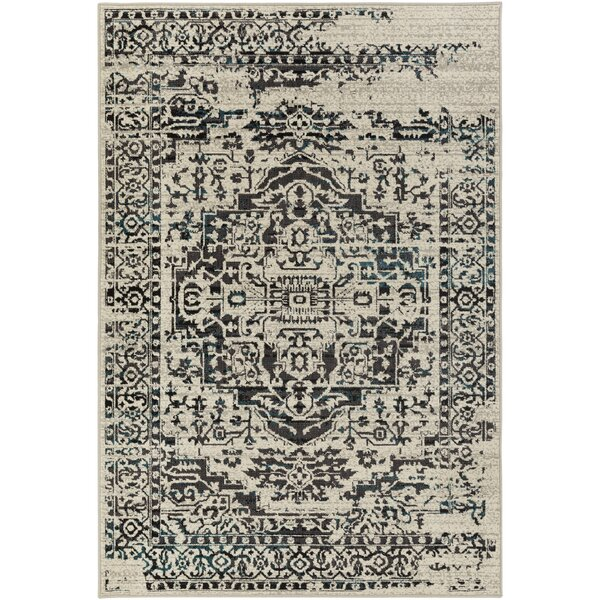 Tierney Gray/Black Area Rug by Mistana