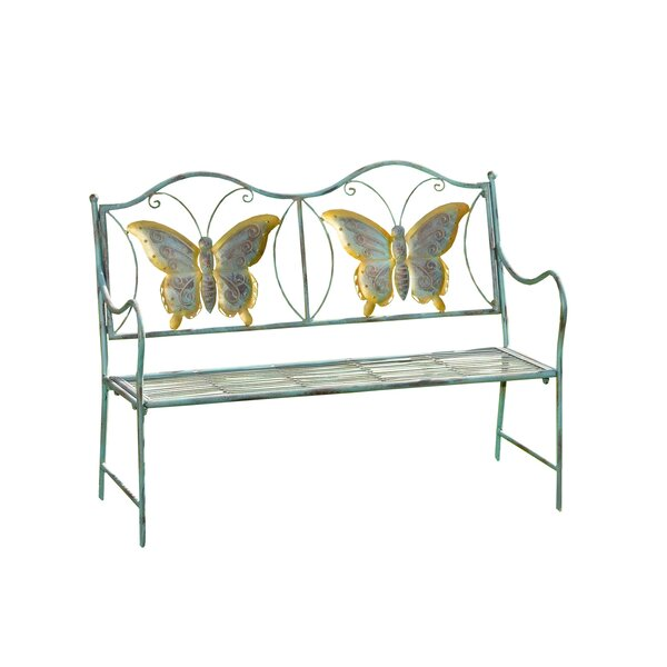 Mohit Metal Butterfly Bench by Winston Porter