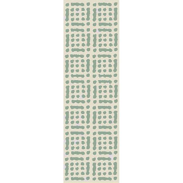 West Hill Hand-Hooked Green/Beige Indoor/Outdoor Area Rug by Wrought Studio