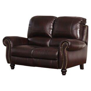 Tanguay Leather Reclining Loveseat