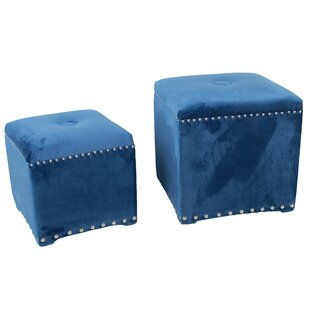 2 Piece Cube Ottoman Set