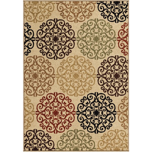 Bradley Bisque Catalina Beige Indoor/Outdoor Area Rug by Threadbind
