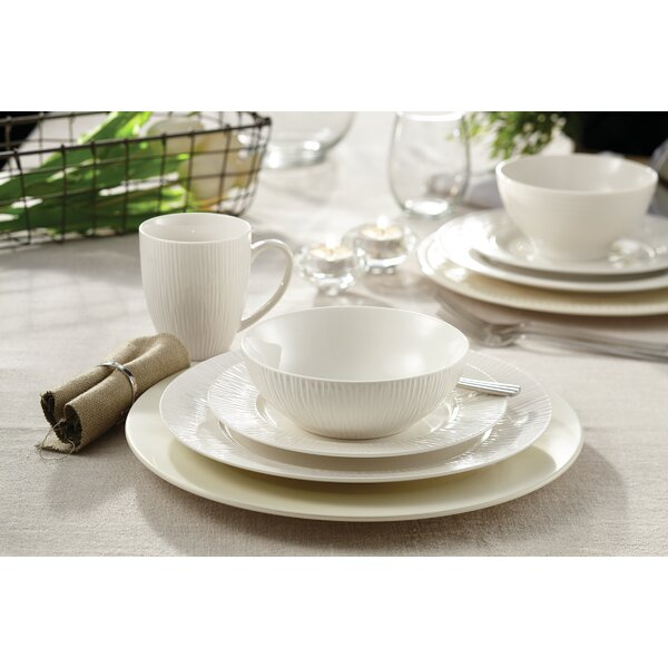 Loucks Embossed Bamboo 16 Piece Dinnerware Set, Service for 4 by Winston Porter