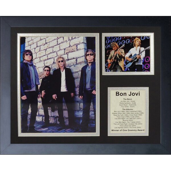 Bon Jovi II Framed Photographic Print by Legends Never Die