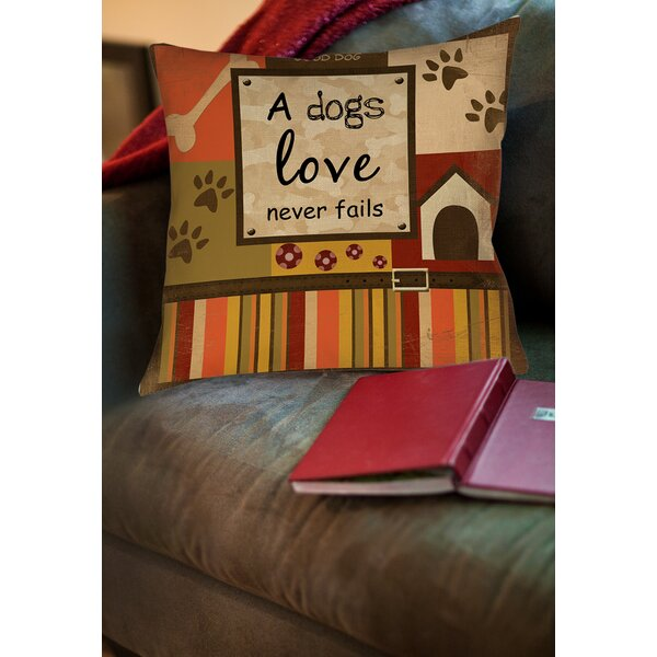 Love Never Fails Printed Throw Pillow by Manual Woodworkers & Weavers
