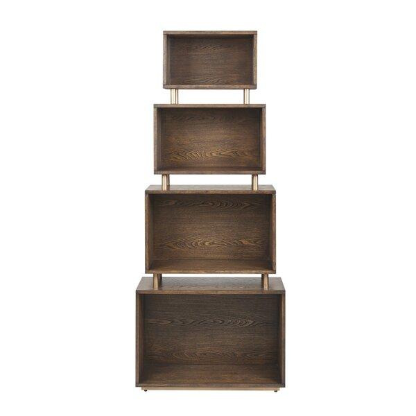 Voelker Geometric Bookcase By Brayden Studio