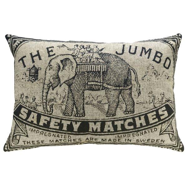Hoeft Jumbo Elephant Linen Throw Pillow by Bloomsbury Market