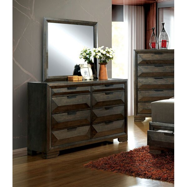 Mitchell 8 Drawer Double Dresser with Mirror by Union Rustic