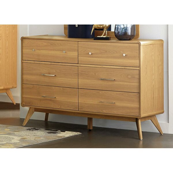 Fairford Wooden 6 Drawer Double Dresser by Corrigan Studio