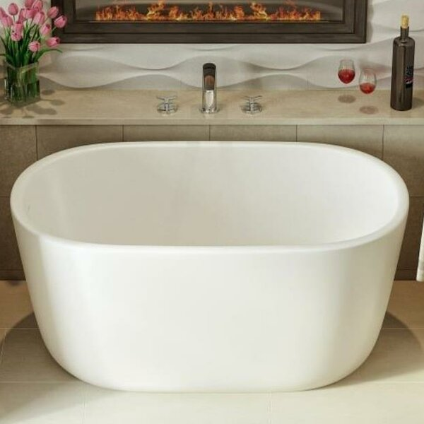 Lullaby Nano 51.25 x 27.5 Freestanding Soaking Bathtub by Aquatica