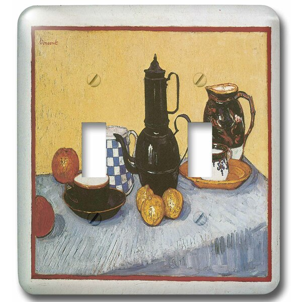 Still Life with Coffee Post by Vincent Van Gogh 2-Gang Toggle Light Switch Wall Plate by 3dRose