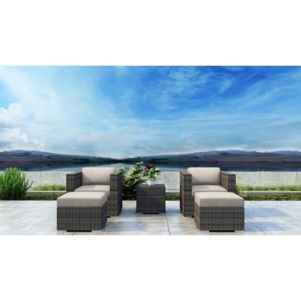 Gilleland 5 Piece Conversation Set with Sunbrella Cushion by Orren Ellis