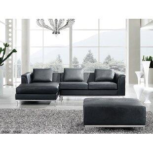 Tachani Leather Corner Sectional