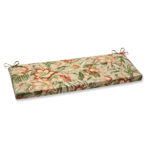 Botanical Glow Indoor/Outdoor Bench Cushion by Pillow Perfect