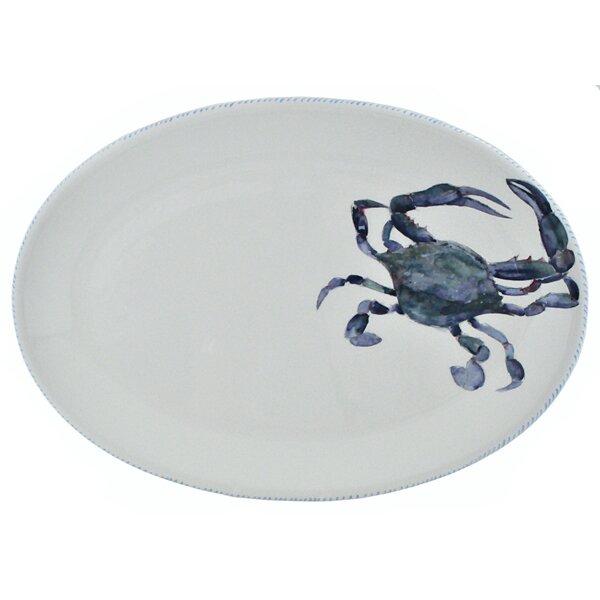 Crab Oval Platter by Abbiamo Tutto