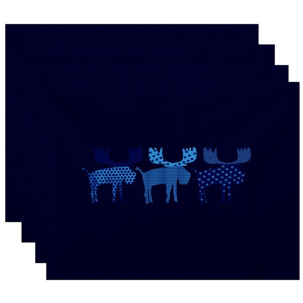 Merry Moose Placemat (Set of 4) by The Holiday Aisle