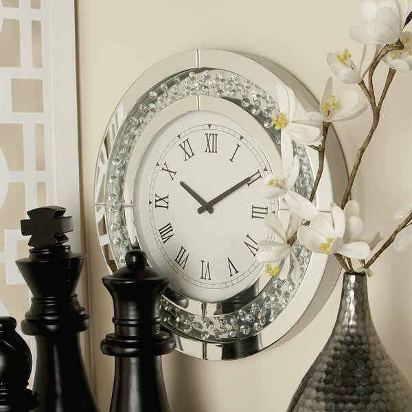 Wood and Mirror 20 Wall Clock by Cole & Grey