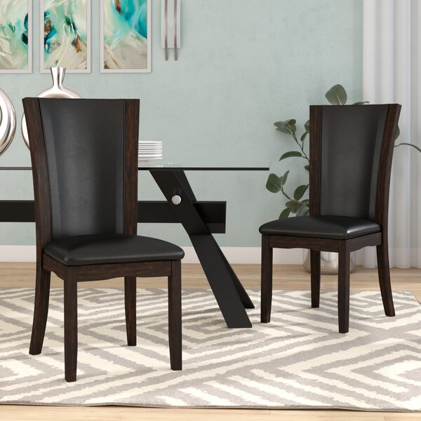 Uptown Upholstered Dining Chair (Set of 2) by Latitude Run