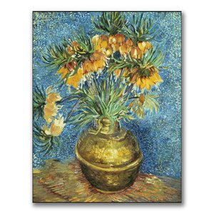 Crown Imperial Fritillaries by Vincent Van Gogh Canvas Painting Print by Trademark Fine Art