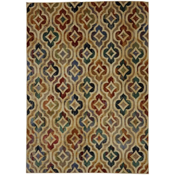 Savannah Tan/Blue Area Rug by Mohawk Home