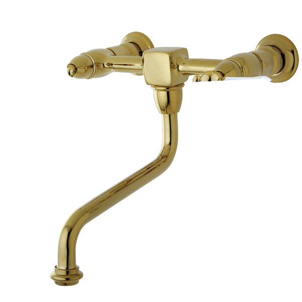 Heritage Wall Mounted Bathroom Faucet With Drain Assembly By Kingston Brass