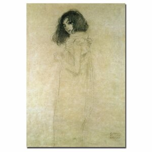 Portrait of a Young Woman 1896-97 by Gustav Klimt Painting Print on Wrapped Canvas by Trademark Fine Art