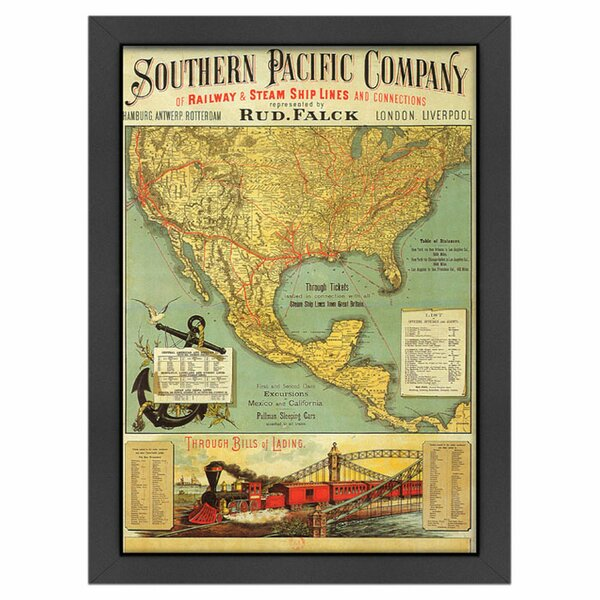 Southern Pacific Framed Graphic Art by Americanflat