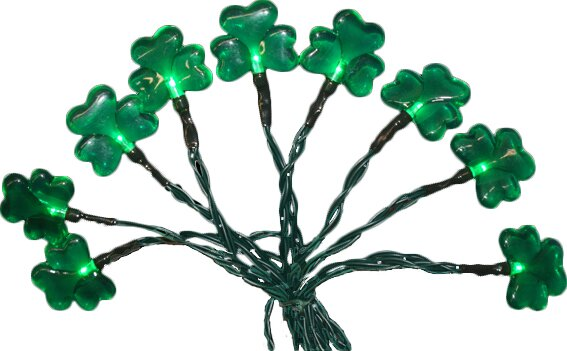20 Light Battery Operated Mini LED Shamrock String Light by Penn Distributing