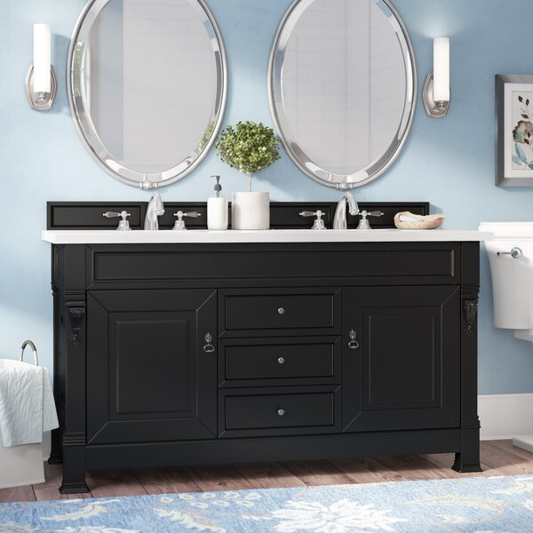 Bedrock 60 Double Antique Black Bathroom Vanity Set by Darby Home Co