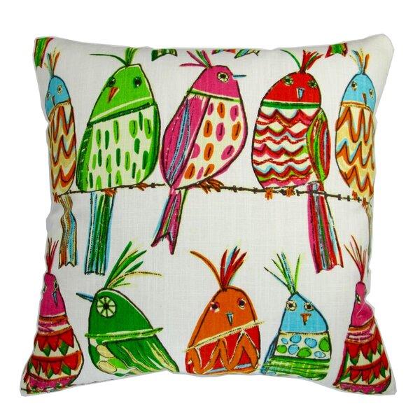 Kreutzer Sitting Pretty Bird in Rainbow Pillow by Zoomie Kids