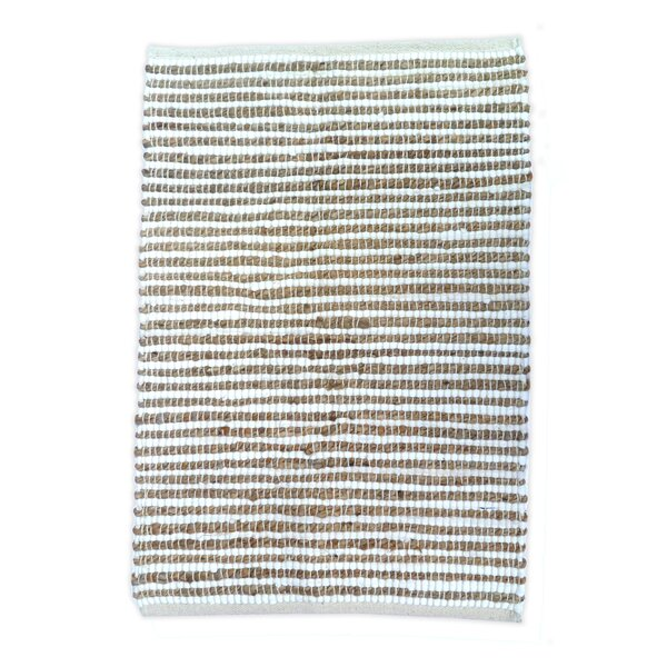 Sand Stripe White/Natural Area Rug by Artim Home Textile
