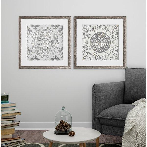 Blue Black and White Mandala Wall Decor Set of 3 Prints or Choose Individual Mandala Wall Art