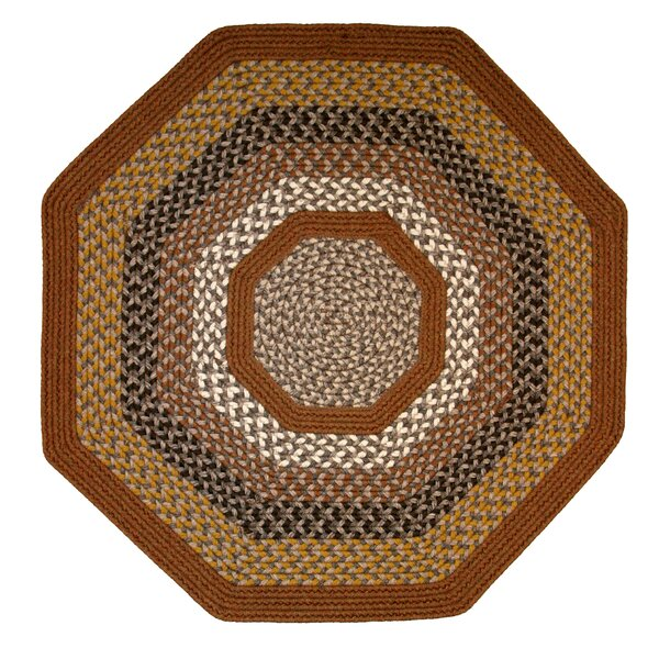 Green Mountain Maple Syrup Multi Octagon Brown Area Rug by Thorndike Mills