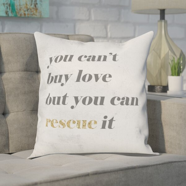 Cici Rescue Love Throw Pillow by Brayden Studio